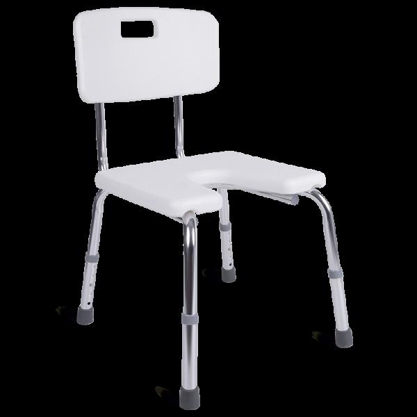 silla de ducha con asiento herradura 9140